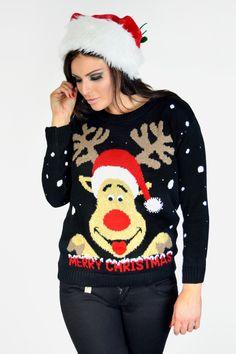 Need That Look - Black Reindeer Goggle Eye Christmas Jumper (http://www.needthatlook.com/black-reindeer-goggle-eye-christmas-jumper/)