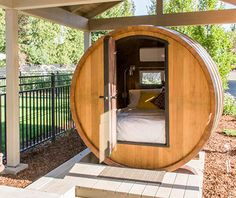 Strangest Vacation Rentals: Walla Walla Wine Barrel, WA