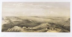 'View From the Heights Above Balaklava Looking Towards Sebastopol', by William Simpson, 1854 (lithograph). William Simpson (1823-99) was a Scottish painter who became noted for his depictions of the Crimean War (1853-6)
