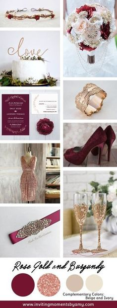 Wedding Color Trend Alert | Fall 2017 | Rose Gold and Burgundy
