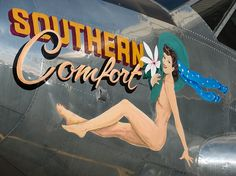 """Southern Comfort"" nose-art on Beech C-45 G-BSZC by Irish251, via Flickr"
