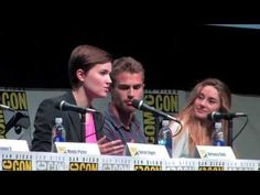 DIVERGENT Comic-Con Panel!!! Roth and cast talk about movie!!! Theo James voice = greater than the book itself. March 2014 is SO FAR away!!! :(  Divergent/insurgent/Allegiant