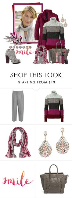 """Etro Striped Turtleneck, 10/9/15"" by franceseattle ❤ liked on Polyvore featuring Acne Studios, Lands' End, Etro, prAna, ALDO, CÉLINE and Laura Geller"