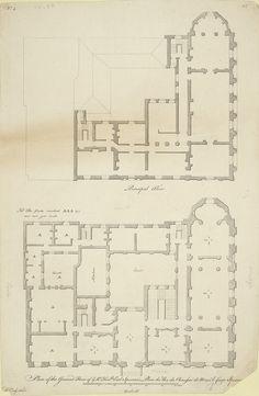 Plan of the ground floor of ye Rt. Honble Earl Spencer's