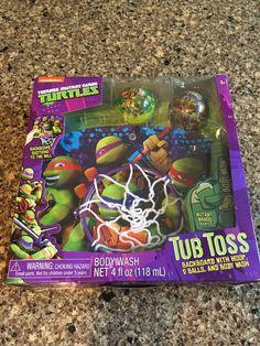Teenage Mutant Ninja Turtles Tub Toss Bath Basketball Body Wash New Gift  TMNT