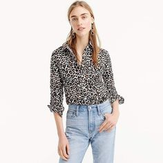 28c49f1d532 Shop the Women s Petite Slim Perfect Shirt In Leopard Print at J.Crew and  see the entire selection of Women s Shirts.