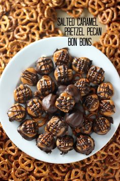 Salted Caramel Pretzel Pecan Bon Bons, perfect Christmas snacks for C's office