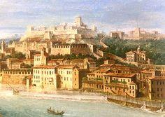 Verona nel cuore......Veduta del castello visconteo dipinta da Antonio Joli (1700-1777).