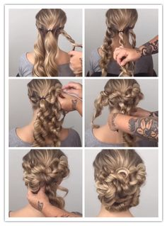 65 Womens Easy Hairstyles ideas and DIY Steps. 65 Womens Easy Hairstyles ideas and DIY Steps. Prom Hairstyles For Long Hair, Pretty Hairstyles, Braided Hairstyles, Wedding Hairstyles, Simple Hairstyles, Hairstyle Ideas, Amazing Hairstyles, Hair Ideas, Pinterest Hair