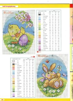 Xstitch *m Easter animals inside stitched eggs. Light hearted, but involved. Cross Stitch Cards, Cross Stitch Baby, Cross Stitch Animals, Cross Stitch Kits, Cross Stitching, Cross Stitch Embroidery, Cross Stitch Patterns, Crochet Baby Mobiles, Easter Cross