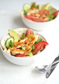 wrap bowl met halloumi
