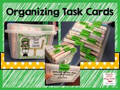 Diary of a Not So Wimpy Teacher: Totally Task Card Tuesday: Organizing Task Cards Teacher Organisation, Organization And Management, School Organization, Classroom Management, Teacher Binder, Behavior Management, Organized Teacher, Organization Ideas, Organizing