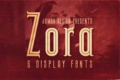 Zora - Vintage Display Font by JumboDesign on @creativemarket