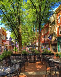 Dining al fresco in downtown Charlottesville is a great way to check out the local scene 🍽 Roanoke Virginia, Richmond Virginia, West Virginia, Charlottesville Va, Virginia Is For Lovers, Adventure Is Out There, Summer Travel, Travel Usa, Architecture