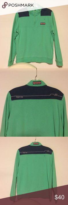 Green Vineyard Vines Shep Shirt Vineyard Vines green shep shirt. Children's size L (16-18). Stylish and comfortable sweater. Only worn a few times. Vineyard Vines Sweaters V-Necks