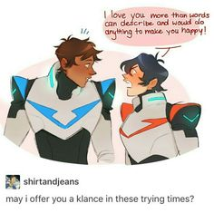 I sadly don't ship Klance but this is literally how I feel when I'm around my crush