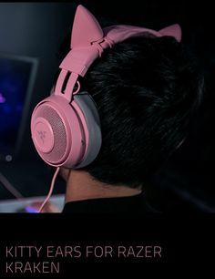 Kitty Ears for Razer Kraken - Pink Quartz