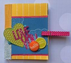 Make Mine a Mini~ one sheet mini album with pockets featuring Amy Tangerine