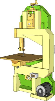 Homemade bandsaw (version 2) Complete 1x1 drawings are available for a small price.