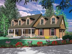 Eplans Country House Plan - Picture-Perfect Country Facade - 2000 Square Feet and 3 Bedrooms(s) from Eplans - House Plan Code HWEPL12431