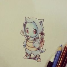 Squirtle in a Blastoise outfit :)