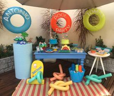 Pool Party: Precious Tips and 40 Ideas for a Refreshing Event - # Pool Party Kids, Sommer Pool Party, Beach Ball Party, Pool Party Cakes, Pool Cake, Kid Pool, Water Party, Luau Party, Teen Pool Parties