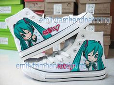 VOCALOID Shoes Custom Hatsune Miku Shoes Hand Painting Sneakers not Converse