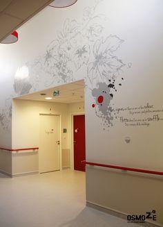 Cr ation graphique d 39 une d coration murale pour un ehpad for Deco murale graphique