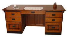 Amish Mission Craftsman Flat Top Executive Desk