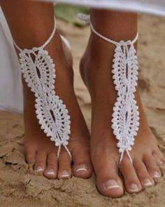 sandalias en crochet para la playa