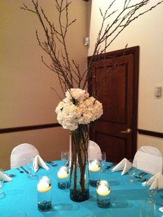 Diy wedding centerpieces branches branch centerpiece in progress inexpensive wedding centerpiece ideas however is not the most crucial portion of wedding designs wedding party dining room table reception hall decor could solutioingenieria Gallery