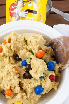 Peanut M&M Cookies by almondtozest.com