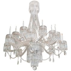 """An Impressive Massive French Crystal Chandelier   first half of 20th century   H: 5'2"""" x Dia: 48""""   price upon request"""