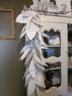 Paper Flower Garland Made From Book Pages