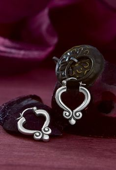 Scrolled Ear Posts from James Avery Jewelry.