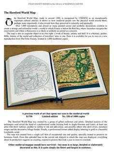 The Hereford World Map : Mappa Mundi - Folio Society limited edition
