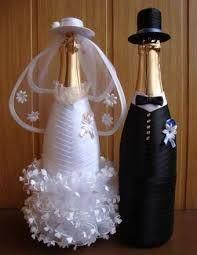 Resultado de imagem para свадебная бутылка декоративная