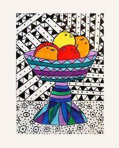 Best Ideas For Pop Art Projects Lesson Plans Grades 3rd Grade Art Lesson, 8th Grade Art, Fourth Grade, Art Lessons For Kids, Art Lessons Elementary, Elementary Drawing, Pop Art, Dibujos Zentangle Art, Classe D'art