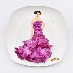 La mode en food art par Hong Yi