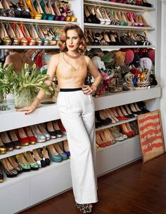 Charlotte Dellal in her London closet | Photograph by Philip Sinden