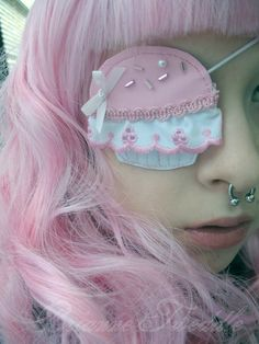 avant garde fairy kei fashion cupcake kawaii eye patch for cute pirate princesses FIERCE EYEPATCH