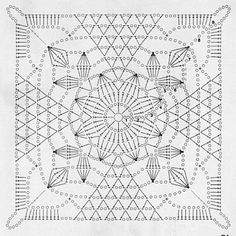 Crochet Square :: Rustic Lace Square pattern by Crochet Tea What length must curtains be? That is where opinions differ since there is no proper length for the curtains. Crochet Motif Patterns, Granny Square Crochet Pattern, Crochet Blocks, Square Patterns, Crochet Diagram, Crochet Chart, Crochet Squares, Crochet Granny, Love Crochet