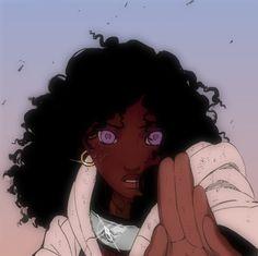 Black Cartoon Characters, Black Girl Cartoon, Black Girl Art, Black Women Art, Art Girl, Foto Cartoon, Cartoon Art, Black Girl Aesthetic, Aesthetic Anime
