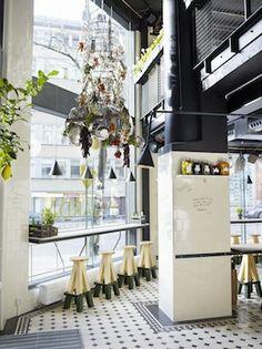 Vigarda Stockholm, amazing concept + graphics + interiors + burgers
