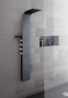 Contemporary Shower Head Style For Elegant Bathroom Interior Design Including Ceramic Tile Wall Plus Shelves Idea Shower Head Style for Beautiful Shower in Your Bathroom Design Bathroom design