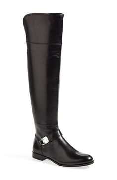 New COACH Womens Black Madeleine Back Zip Over The Knee Leather Riding Boots 8.5 #Coach #RidingEquestrian #Casual