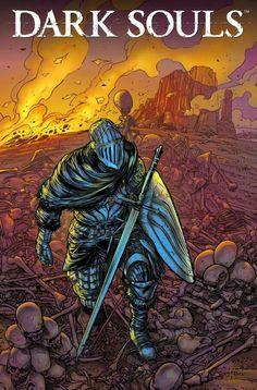Dark Souls' Comic Books Coming This April - Forbes Dark Souls 2, Arte Dark Souls, Dark Fantasy, Fantasy Art, Handy Wallpaper, Bloodborne Art, Soul Game, Fantasy Characters, Game Art