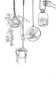 Larysa Musick illustrations Bullet Journal Mood, Bullet Journal Aesthetic, Bullet Journal Ideas Pages, Bullet Journal Inspiration, Art Drawings Sketches, Doodle Drawings, Easy Drawings, Doodle Art, Simple Doodles Drawings