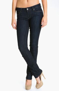 Paige 'Skyline' Straight Leg Stretch Jeans (Dream) available at Nordstrom  #fossilvintagerevival