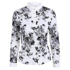 Flower Pattern Lace Ruffle T-Shirt